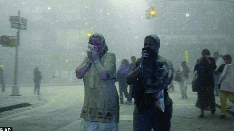 When the WTC towers collapsed, a cloud of hazardous materials enveloped the the surrounding neighbourhood.