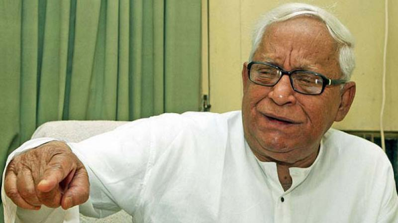 The condition of former West Bengal chief minister Buddhadeb Bhattacharjee, who was hospitalised last night after he complained of acute breathing problems, is stable, a senior hospital official said on Saturday. (Photo: File)