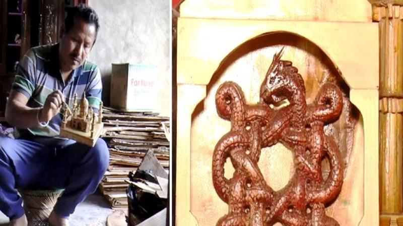 Cane and bamboo craft acts as a catalyst in generating employment in the state. (Photo: ANI)