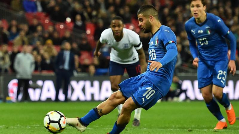 England will play Italy in an international friendly on March 27 at Wembley Stadium, the country's soccer governing body, Football Association (FA) said on Monday. (Photo:AFP)