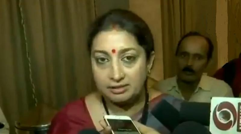 The Supreme Court on Monday issued notice to Union minister Smriti Irani that pertains to two cross defamation complaints filed by Congress leader Sanjay Nirupam and the BJP leader against each other. (Photo: File)