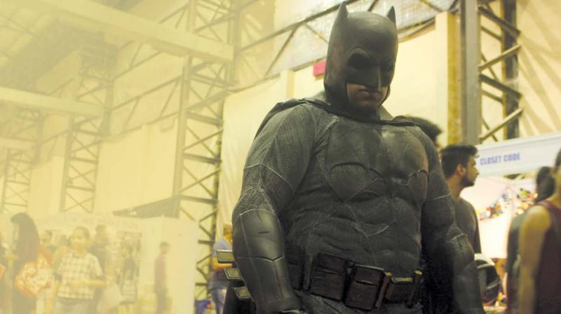 Aditya as Batman (Photo: Amogh Purohit)