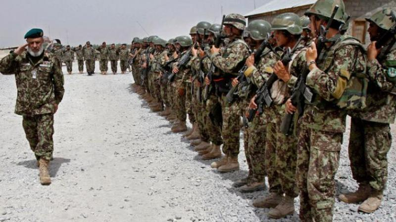 Afghan National Army soldiers in thwe Sangin district of Kandahar province in Afghanistan. (Photo: AP)