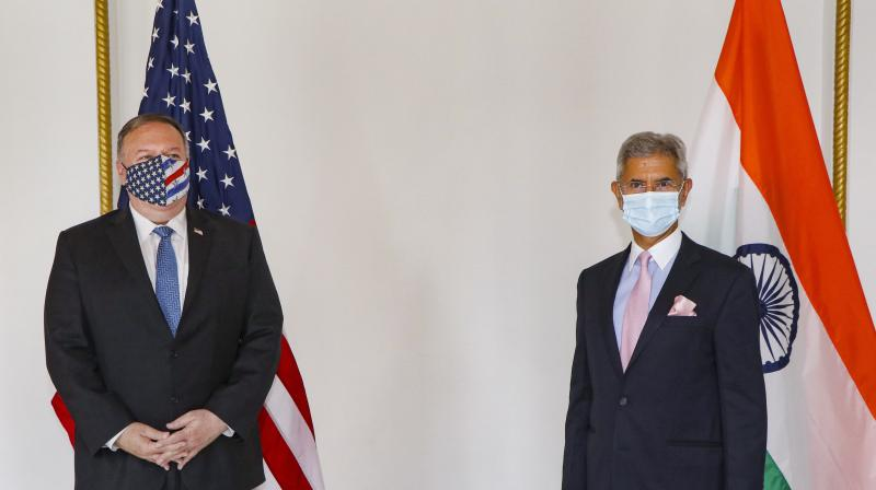 EAM S. Jaishankar with US secretary of State Mike Pompeo at a meeting in Tokyo. — PTI photo