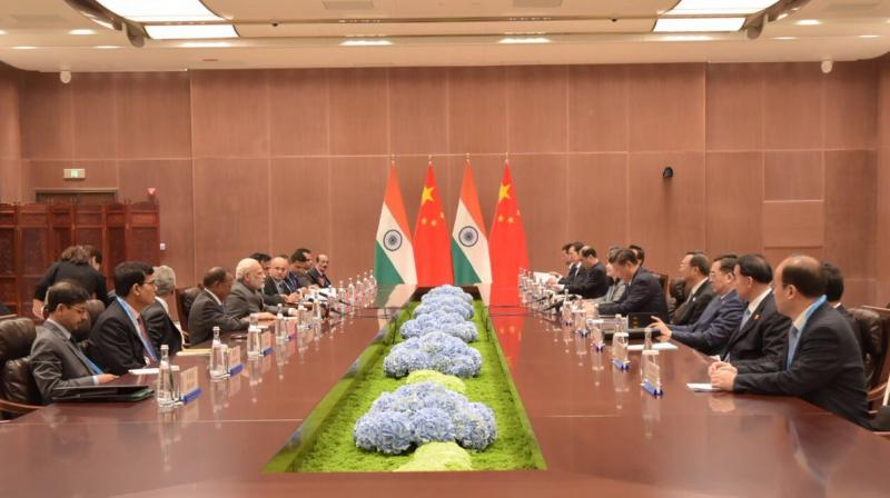 As agreed at Astana that theywill not let differences become disputes, Modi and Xi reaffirmed their former decision, S Jaishankar said. (Photo: Twitter/@MEAIndia)