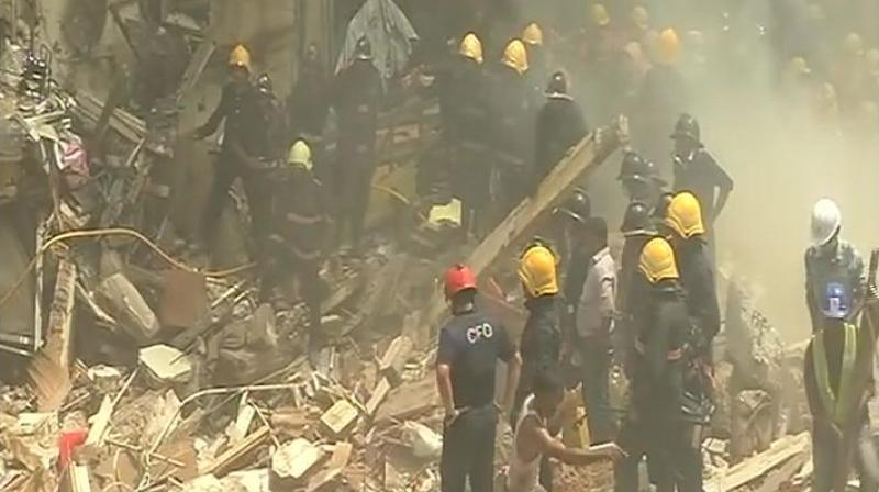 The Delhi Fire officials said that a telephone call was received at 12:10 pm regarding a wall of an under-construction building collapsed in South Delhi's Greater Kailash area, killing one person and injuring five others. (Photo: ANI/Representational Image)