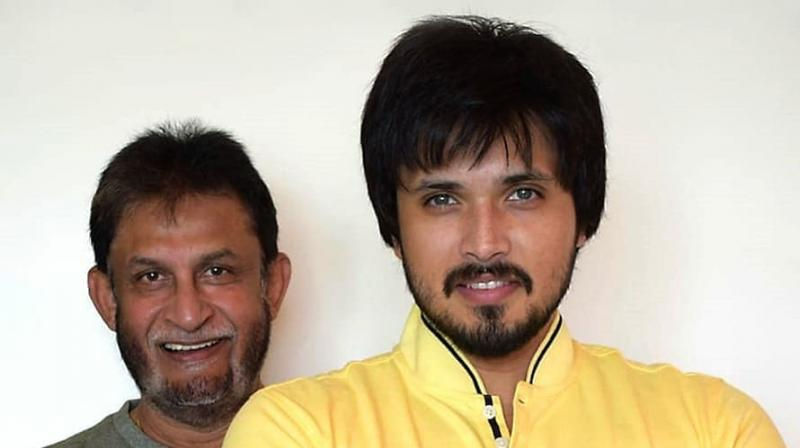 Chirag Patil with his father and former cricketer Sandeep Patil. (Instagrammed by Reliance Entertainment)