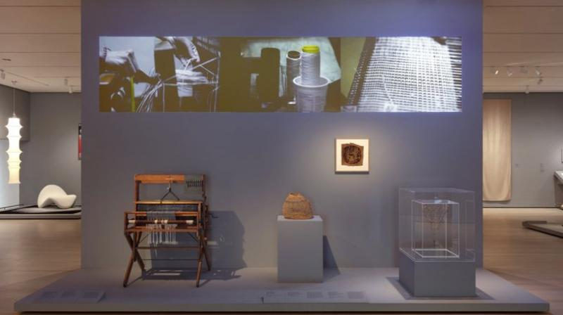"""The exhibit takes its name from a quote by artist and Bauhaus professor Paul Klee, who advised approaching drawing by """"taking a line for a walk."""" (Photo: AP)"""