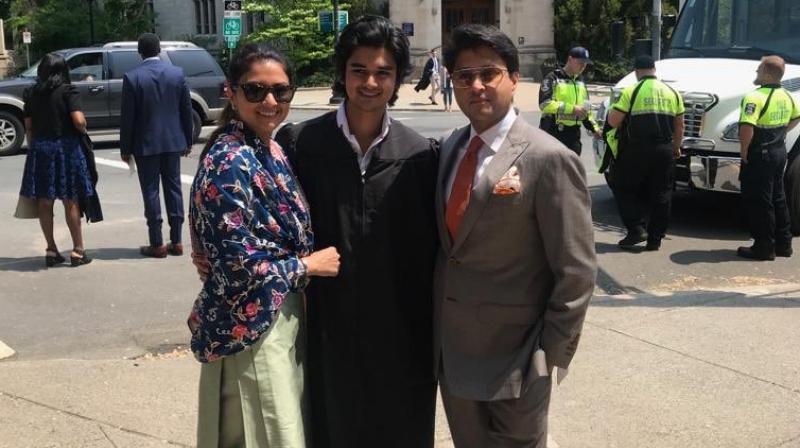 The 23-year-old, Mahanaryaman Scindia graduated from Yale University in the US. (Photo: Twitter)
