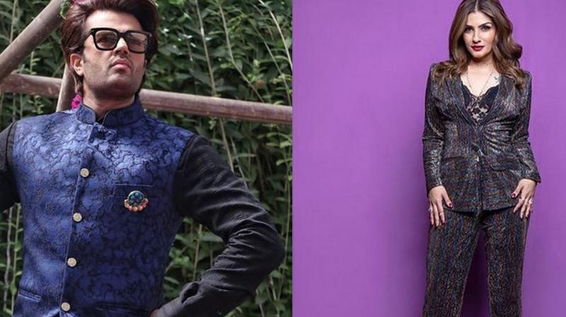 Maniesh Paul and Raveena Tandon. (Photo: Instagram)
