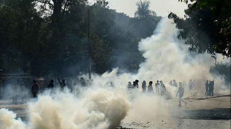 'They fired rubber bullets and tear gas at us. They beat us with batons,' said Hasan Al Mamun, the leader of the anti-quota student group. (Photo: AFP)