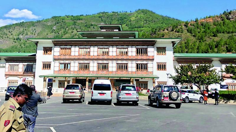 Bhutan has no traffic lights or uniforms to catch errant vehicles.