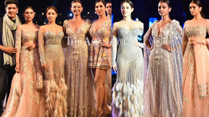 Manish Malhotra unveiled his summer couture 2018 in Pune on Saturday where Radhika Apte, Aditi Rao Hydari, Nushrat Bharucha and Sophie Choudry were the star attractions.