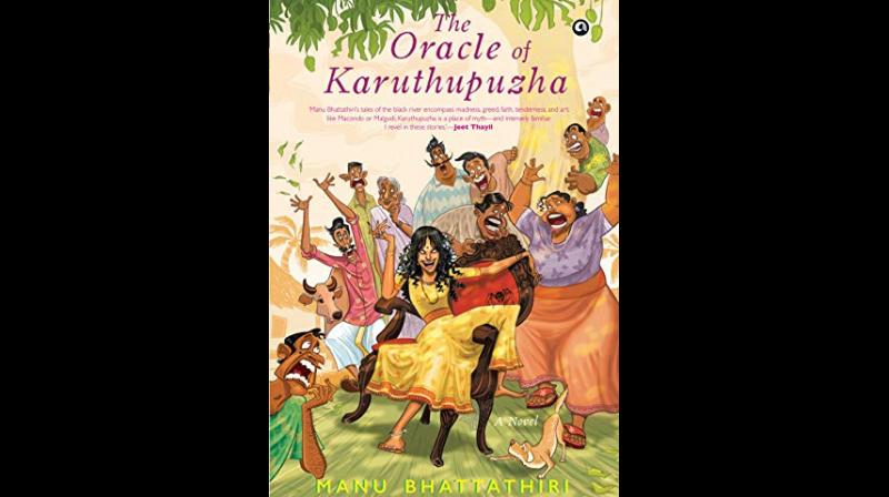 Cover page of 'The Oracle of Karuthupuzha' by Manu Bhattathiri. (Twitter)