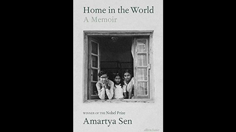 Cover page of 'Home in The World; A Memoir' by Amartya Sen. (Twitter)
