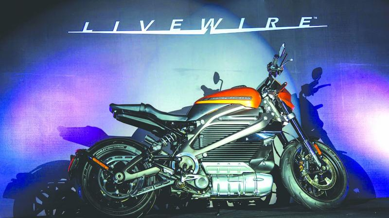 Harley-Davidson, the American luxury bike maker, on Tuesday unveiled its first electric motorcycle called LiveWire for the Indian market.