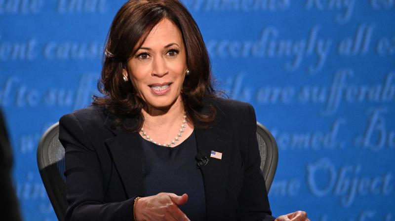 US Democratic vice presidential nominee and Senator from California, Kamala Harris