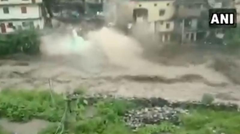 Video: Cloudburst washes away houses in Uttarakhand's Chamoli, 6 dead