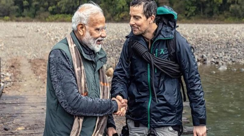 In India, Man Vs Wild with Bear Grylls and Prime Minister Modi would premiere simultaneously on 12 Discovery channels in five languages - English, Bengali, Hindi, Tamil and Telugu. (Photo: FIle)