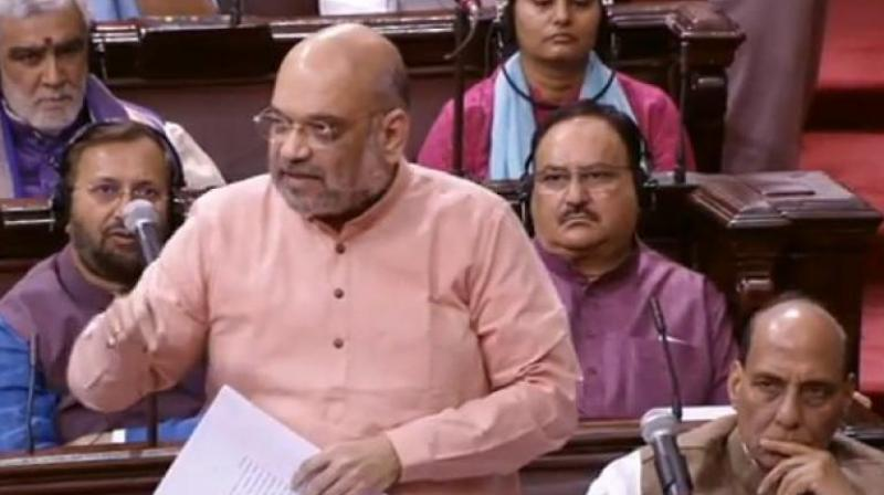 In a series of tweets, Shah said the Prime Minister's legacy includes strongest amendments to SC/ST Act' and setting up of the OBC Commission, while the Congress legacy was about insulting Dalit leaders, opposing the Mandal Commission report and blocking a move to empower the OBC body. (Photo: Twitter | ANI)