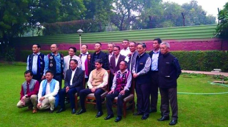 The Naga delegation with state governor R.N. Ravi