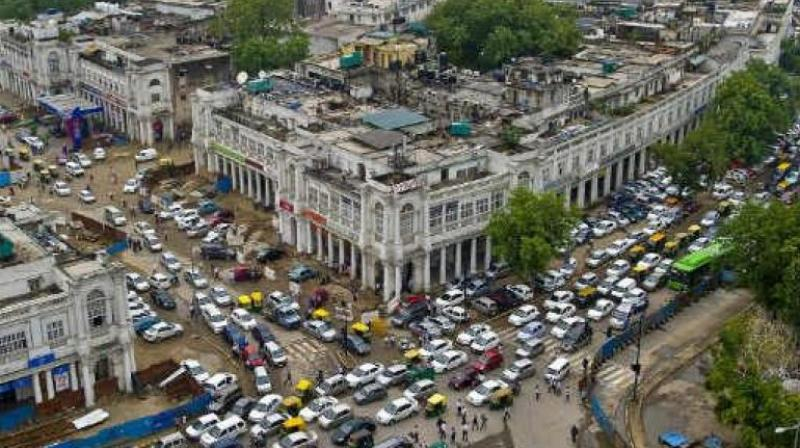 The three-month trial for a car-free Connaught Place, which the NDMC had planned in February 2017, was put off after opposition from traders at the popular shopping hub. (Photo: File/PTI)
