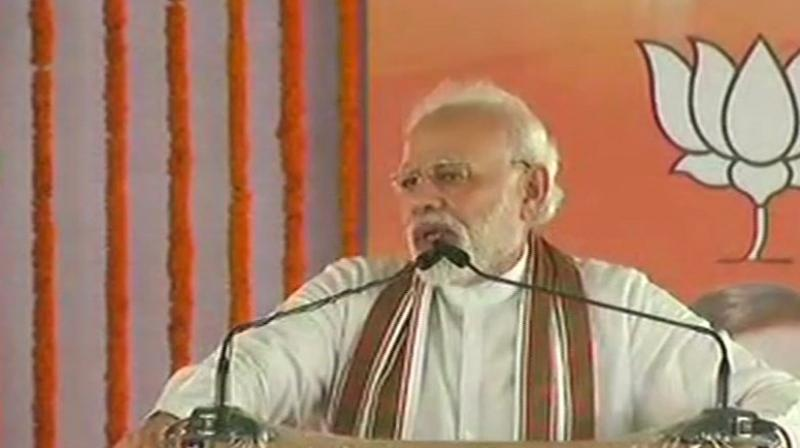 PM Modi used a Hindi expression that translates to more the parties, more the marshy land in which the 'lotus' blooms. (Photo: ANI | Twitter)
