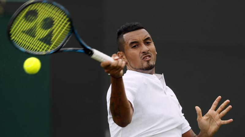 Kyrgios declared he had an ongoing hip problem before the start of Wimbledon (Photo: AP)