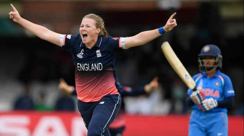 Anya Shrubsole was the star of the evening with 6 wickets. (Photo: AP)