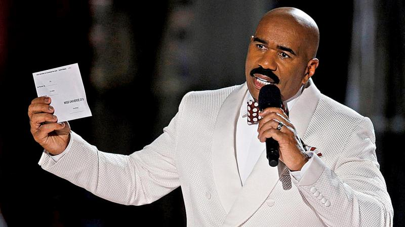 Steve Harvey named the wrong contestant at the Miss Universe pageant. (Photo: AP)