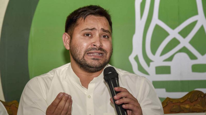 RJD leader Tejashwi Yadav, (Image source: PTI)
