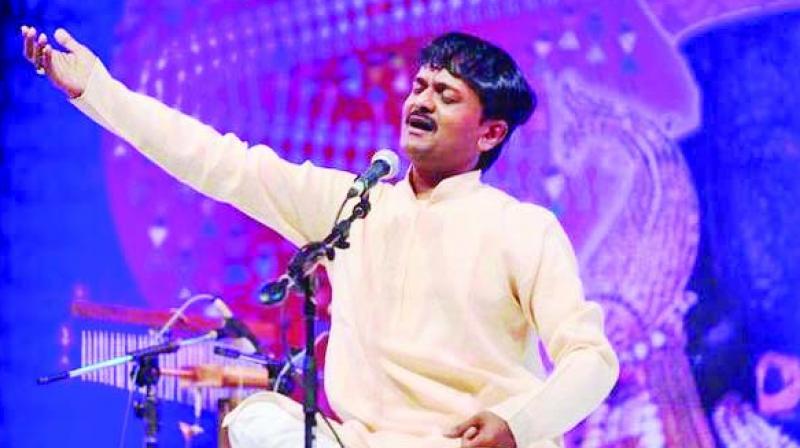 Indian classical vocalist Jayateerth Mevundi