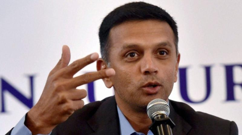 Anurag Thakur credited Rahul Dravid, India's Under 19 coach, for nurturing and 'well grooming' the youngsters through his valuable tips and vast cricketing experience. (Photo: PTI)