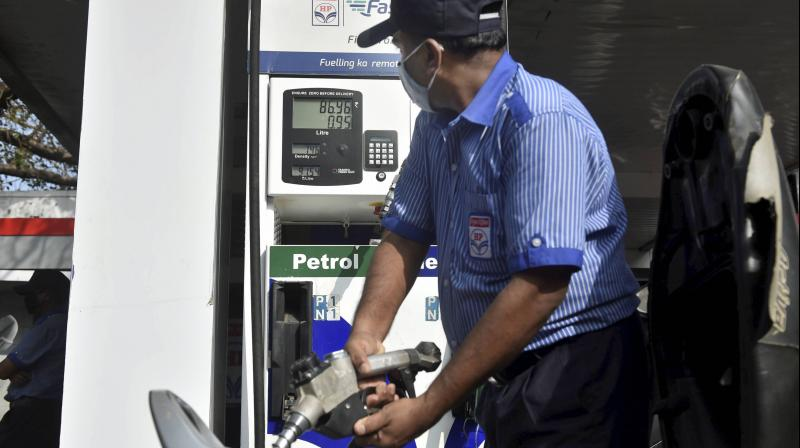 Petrol price was hiked by 30 paise per litre and diesel by 25 paise a litre, according to a price notification of state-owned fuel retailers. (Representational Photo:PTI)