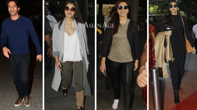 Several B-Town celebrities were snapped at the Mumbai airport on Tuesday. (Photo: Viral Bhayani)