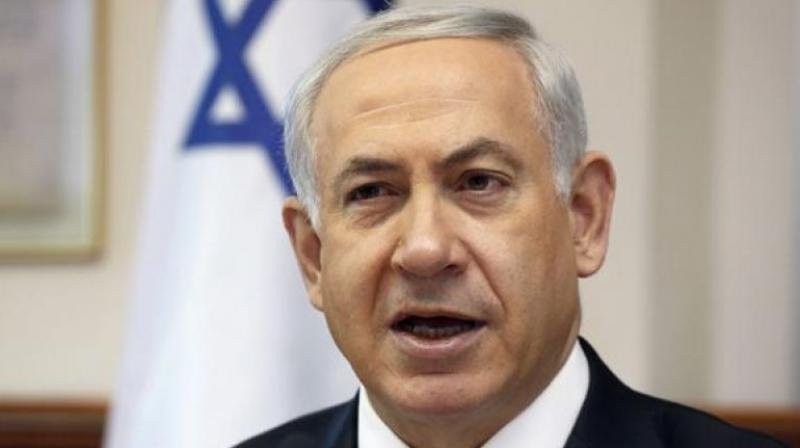 Netanyahu, whose re-election campaign ahead of a poll less than three weeks away could have been complicated by war in the north, signalled business as usual after the hostilities erupted along the frontier with Lebanon. (Photo: AP)
