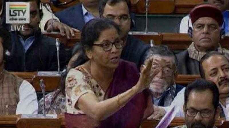 The defence minister alleged that Congress is misleading the country stating that the NDA government reduced 126 Rafale jets to 36. (Photo: Video Screengrab)