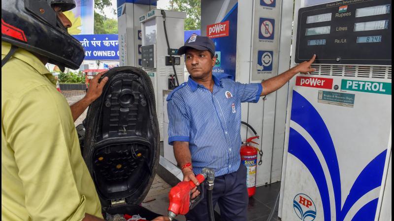 Fuel consumption falls 50 per cent in April. (PTI Photo)