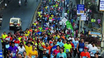 File image of last year's Mumbai Marathon, which was held on January 15 2017.