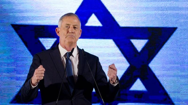 File image of Knesset Speaker Benny Gantz. (AP)