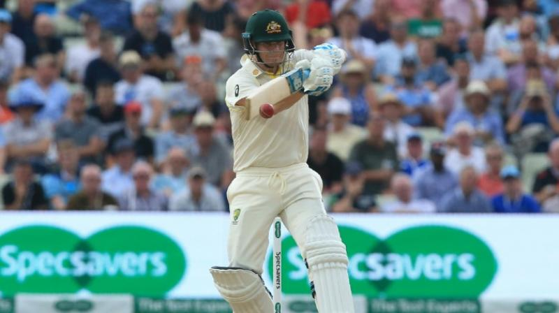 Steve Smith rescued his side who were in big trouble at 122-8 in the first innings with his 23rd test ton in just 64 matches and his unbeaten 45 in the second innings dragged his side, 27-2 when he came to the crease, out of the mire again. (Photo: AFP)