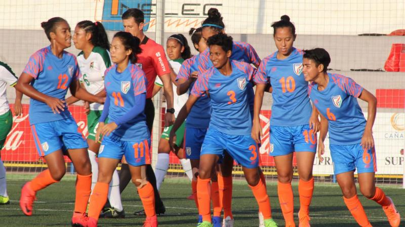India WOmen's Football Team will next take on Sri Lanka on December 5 at the same venue. (Photo: Twitter/Indian Football Team)
