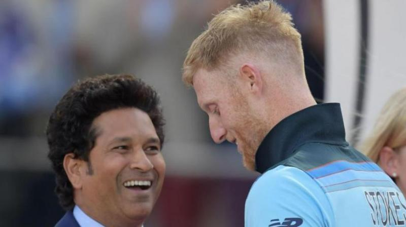 Following ICC's new caption, the netizens slammed the global cricketing body for comparing Ben Stokes with 'Maestro' Sachin Tendulkar. (Photo: Twitter)