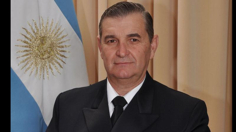 Admiral Marcelo Srur is the fifth senior officer to have been relieved of his functions so far over the ARA San Juan's disappearance. (Photo: AP)