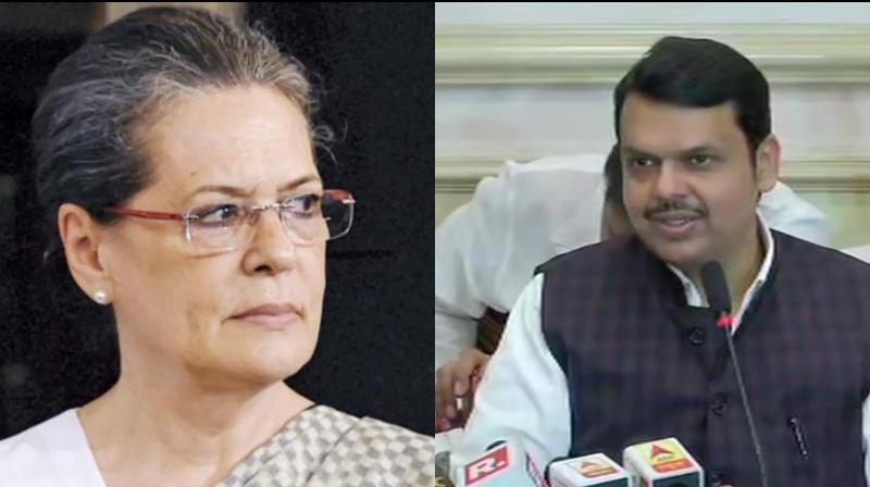 'Shiv Sena's Hindutva has bowed to Sonia Gandhi,' said Devendra Fadnavis. (Photo: File)