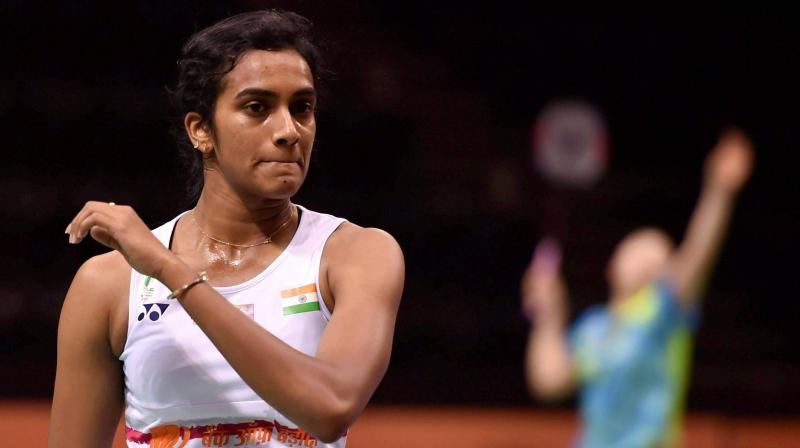 PV Sindhu fought back from 13-16 down in the second game after losing the first to eventually come up trumps. (Photo: PTI)
