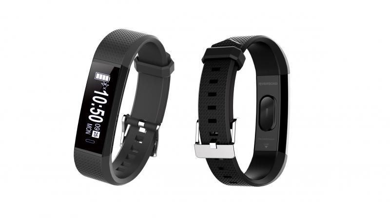 The smart band is also water resistant with an IP65 rating.