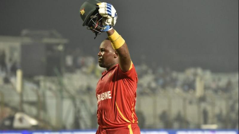 Masakadza played a knock of 71-run in his last match to guide his team to win against Afghanistan. (Photo: ICC/Twitter)