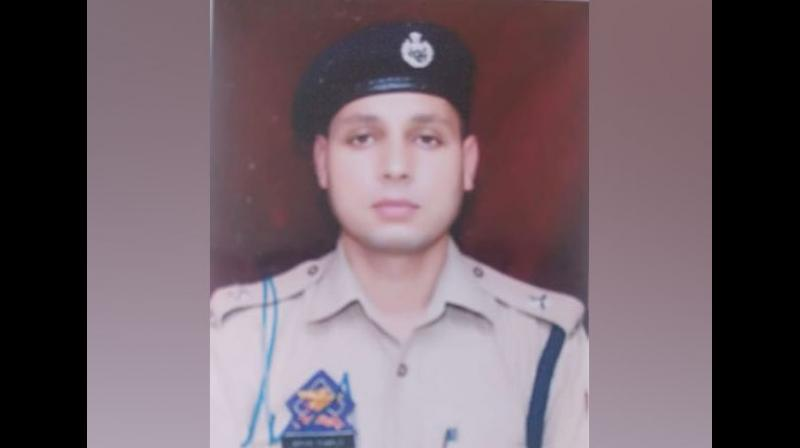 Dy SP Aman Kumar Thakur headed the counter terrorism wing of Jammu and Kashmir Police in District Kulgam from the last one-and-a-half years and had played a key role in the killing of terrorists in the area. (Photo: ANI)