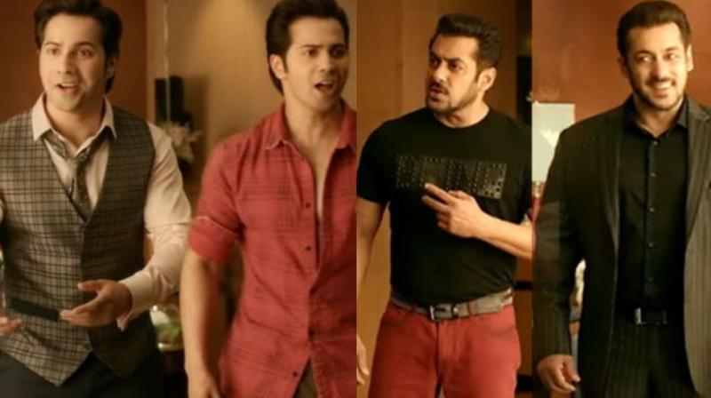Salman Khan and Varun Dhawan in 'Judwaa 2'.